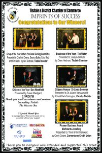 Gala thank you and award winners ad for Recorder